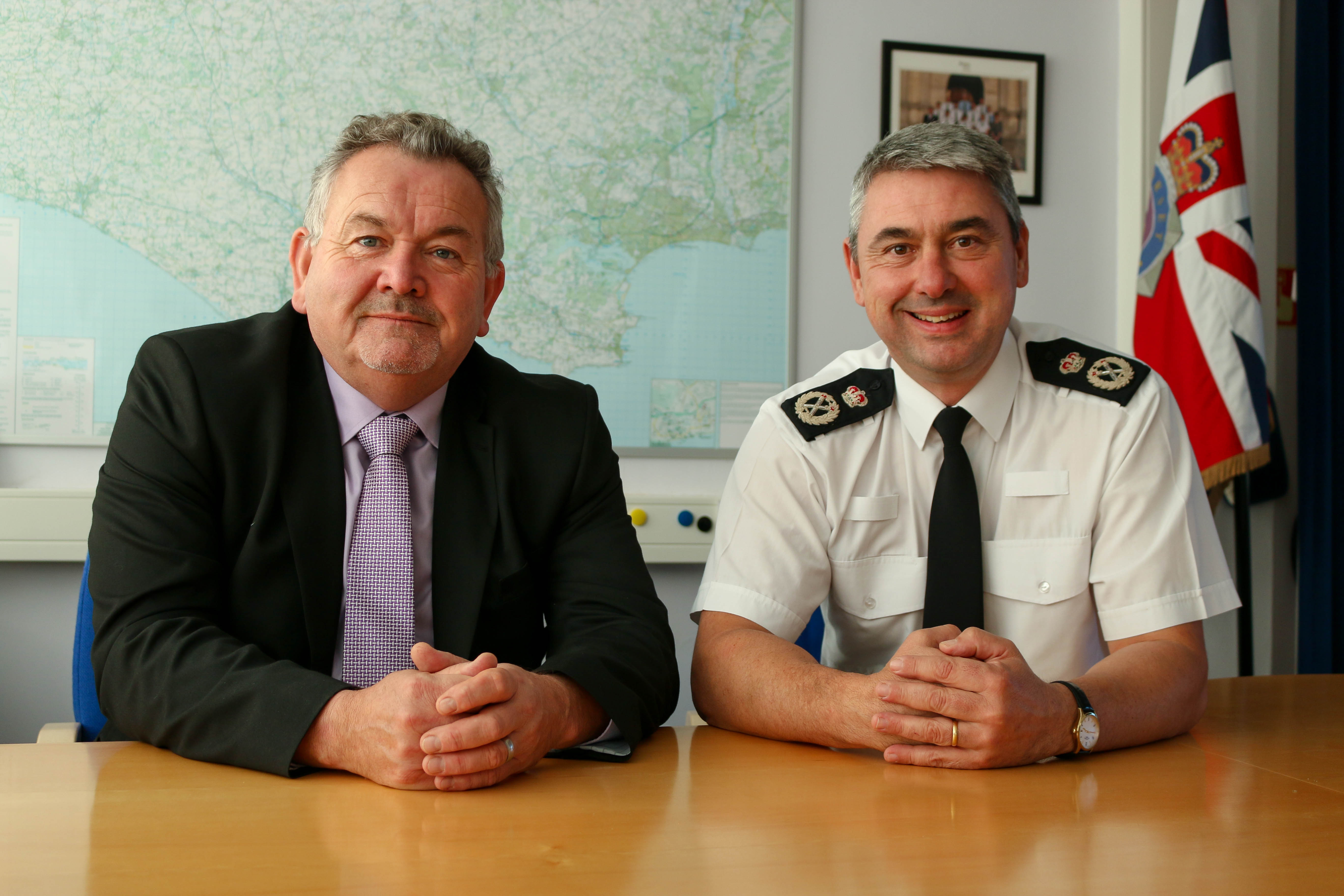 PCC Martyn Underhill and Chief Constable James Vaughan