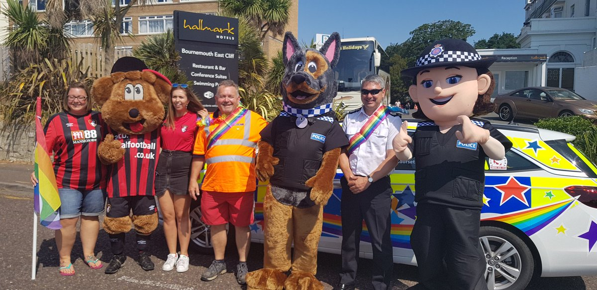 Martyn Underhill with Dorset Police at the 2018 Bourne Free