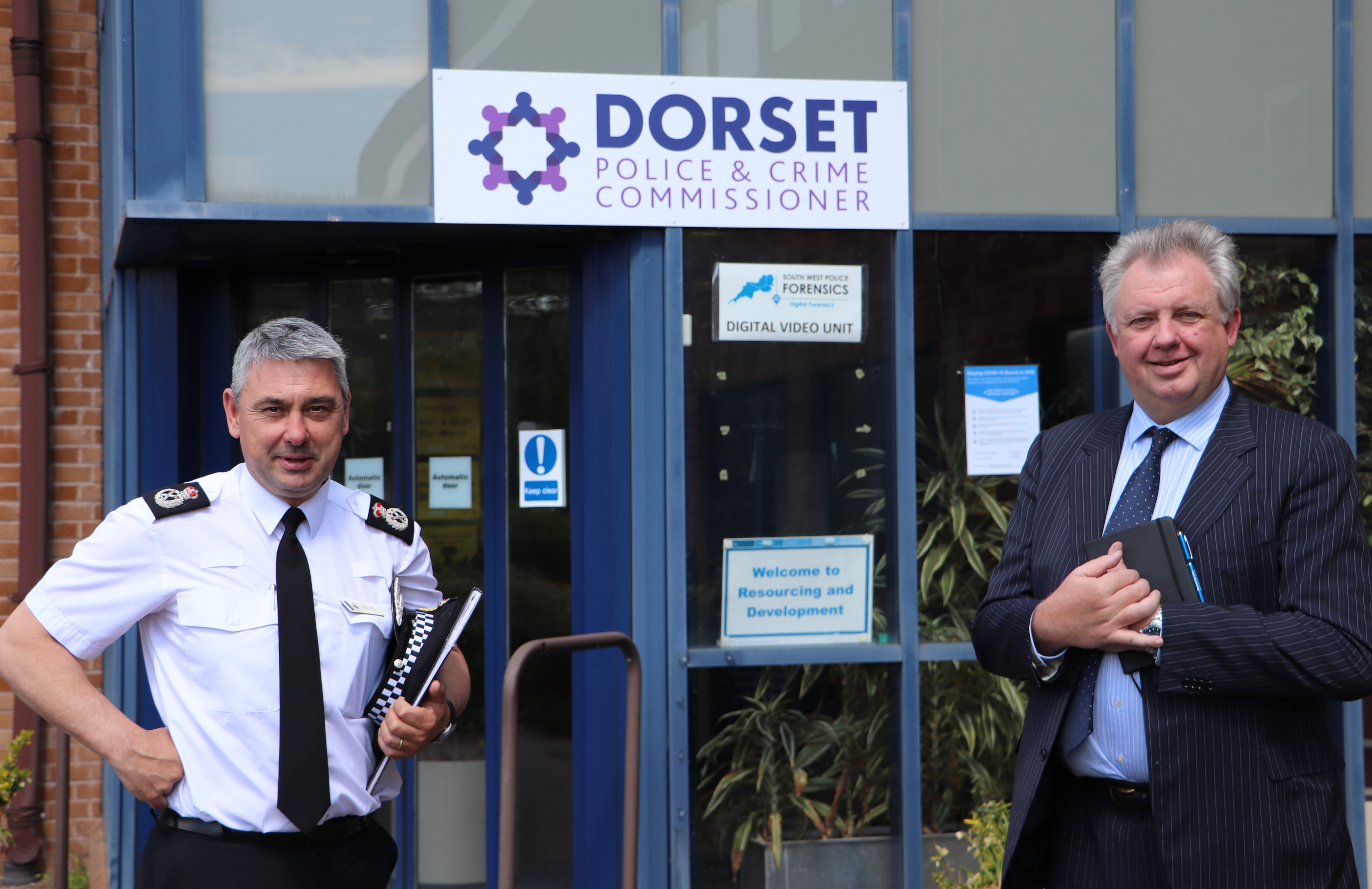 PCC David Sidwick with Chief Constable James Vaughan