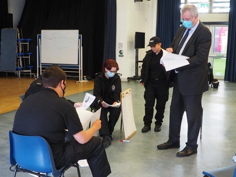 David Sidwick with police cadets