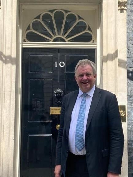 David Sidwick outside 10 Downing Street